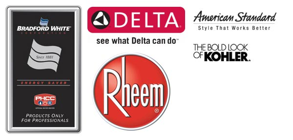 Quality Companies: Bradford White, Delta, Rheem, American Standard, and Kolher